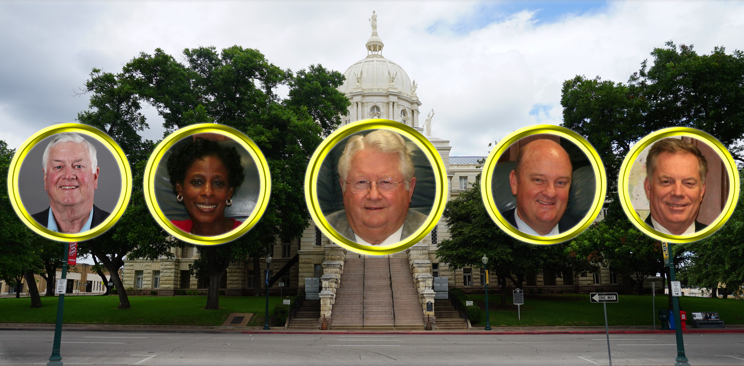 Image of Members of McLennan County Commissioners Court 2021