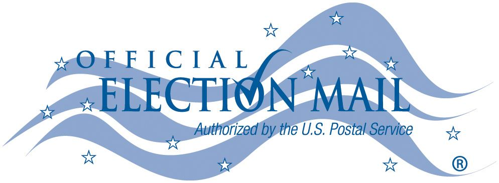 Official Election Mail Logo Blue