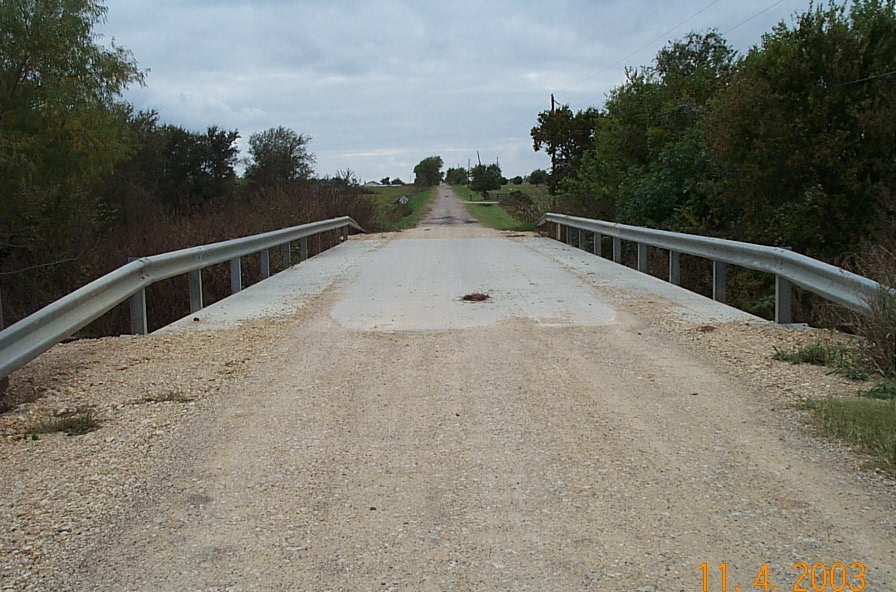 Top of the 4 mile lane bridge after construction was complete